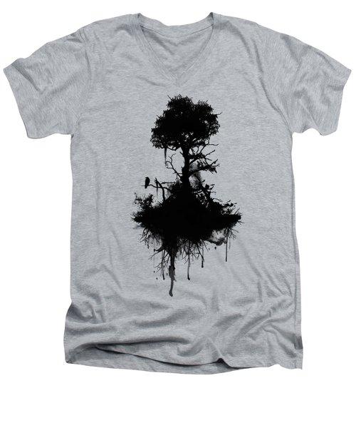 Last Tree Standing Men's V-Neck T-Shirt by Nicklas Gustafsson