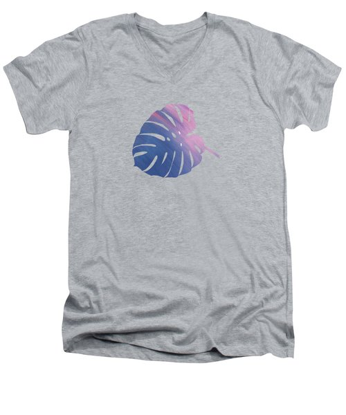 Leaf Abstract 1 Men's V-Neck T-Shirt by Art Spectrum