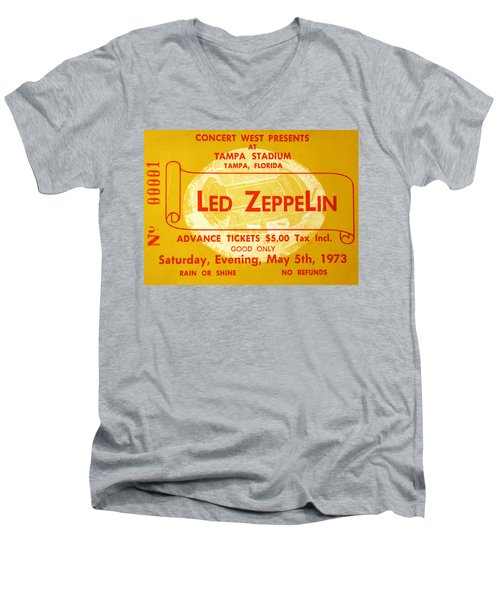 Led Zeppelin Ticket Men's V-Neck T-Shirt by David Lee Thompson