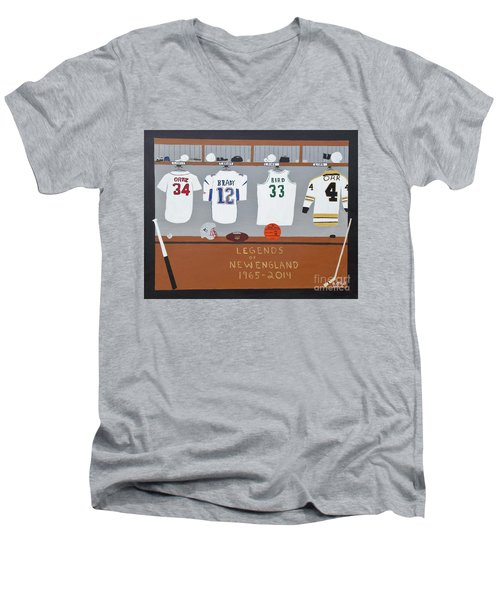 Legends Of New England Men's V-Neck T-Shirt by Dennis ONeil