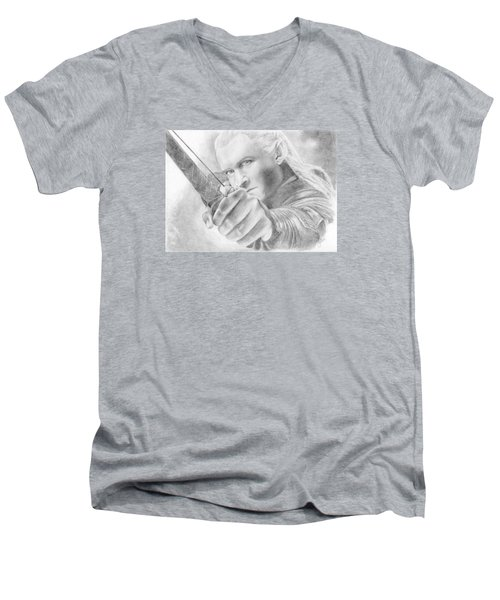 Legolas Greenleaf Men's V-Neck T-Shirt by Bitten Kari