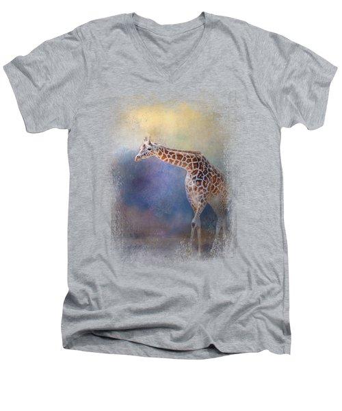 Let The Sun Shine In Men's V-Neck T-Shirt by Jai Johnson