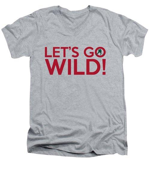Let's Go Wild Men's V-Neck T-Shirt by Florian Rodarte