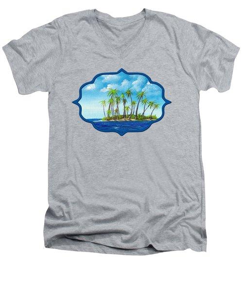 Little Island Men's V-Neck T-Shirt by Anastasiya Malakhova