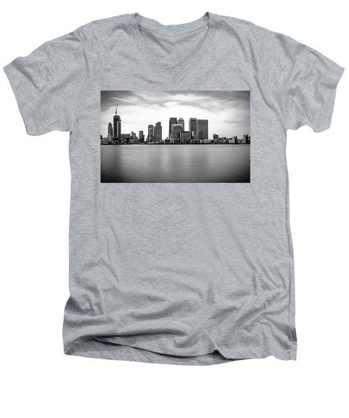 London Docklands Men's V-Neck T-Shirt by Martin Newman