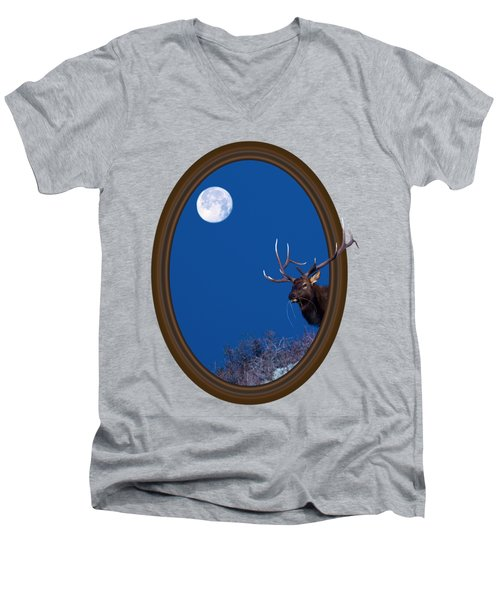 Looking Beyond Men's V-Neck T-Shirt by Shane Bechler