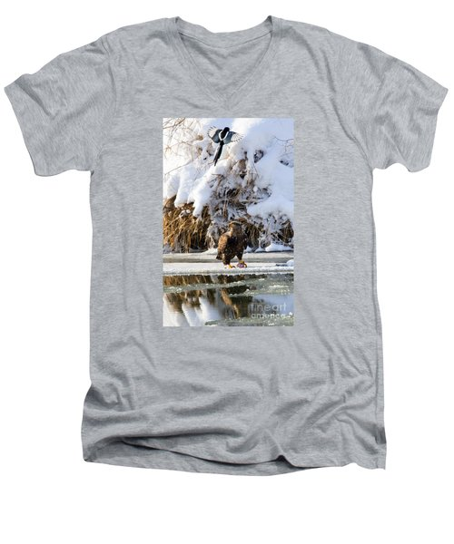 Lookout Above Men's V-Neck T-Shirt by Mike Dawson