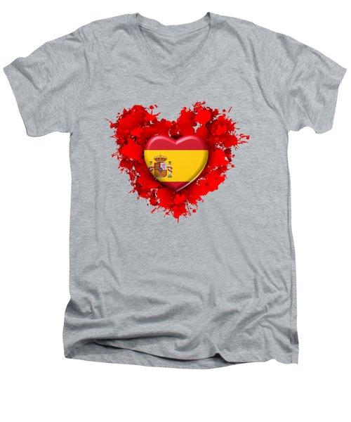 Love Spain 1 Men's V-Neck T-Shirt by Alberto RuiZ