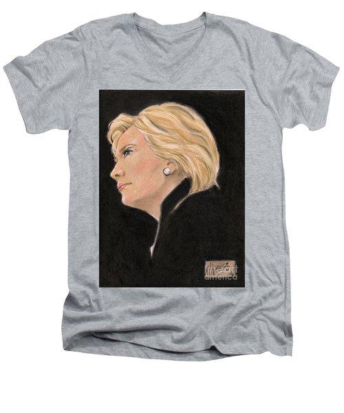 Madame President Men's V-Neck T-Shirt by P J Lewis