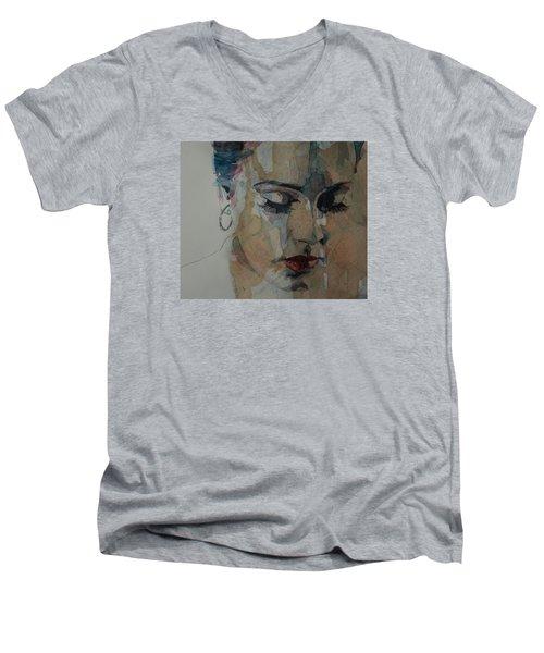 Make You Feel My Love Men's V-Neck T-Shirt by Paul Lovering