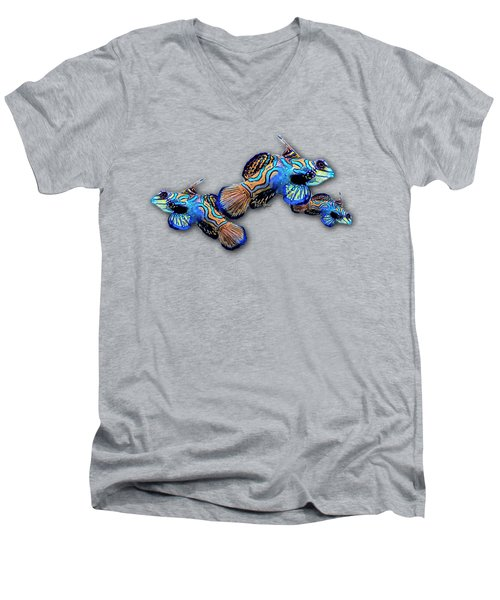 Mandarin Gobies Men's V-Neck T-Shirt by Russ Harris