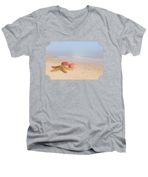 Memories Of Summer Men's V-Neck T-Shirt by Gill Billington