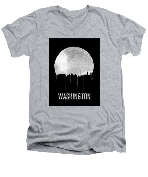 Memphis Skyline Black Men's V-Neck T-Shirt by Naxart Studio
