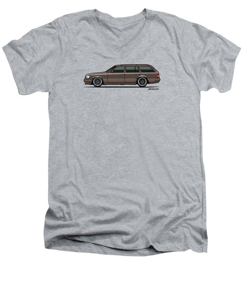 Mercedes Benz W124 E-class 300te Wagon - Anthracite Grey Men's V-Neck T-Shirt by Monkey Crisis On Mars