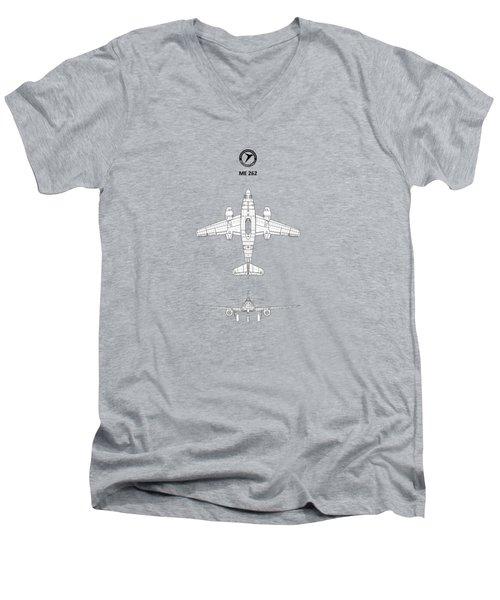 Messerschmitt Me 262 Men's V-Neck T-Shirt by Mark Rogan