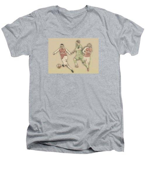 Mesut Ozil Men's V-Neck T-Shirt by Don Kuing