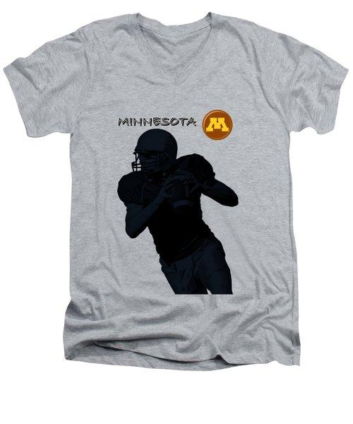 Minnesota Football Men's V-Neck T-Shirt by David Dehner