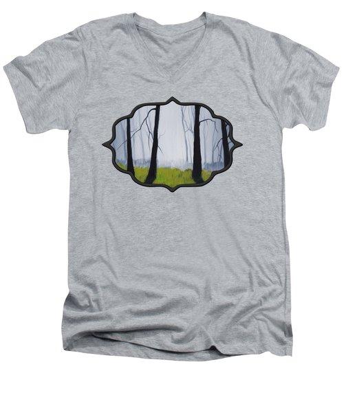 Misty Forest Men's V-Neck T-Shirt by Anastasiya Malakhova