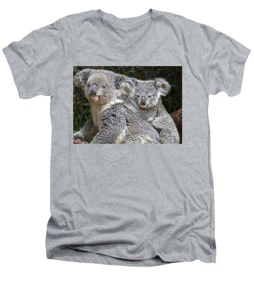 Mommy Hugs Men's V-Neck T-Shirt by Jamie Pham
