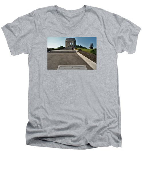Men's V-Neck T-Shirt featuring the photograph Montsec American Monument by Travel Pics
