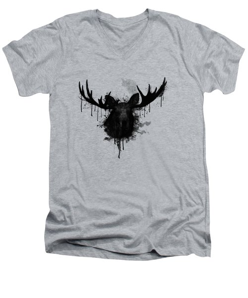 Moose Men's V-Neck T-Shirt by Nicklas Gustafsson