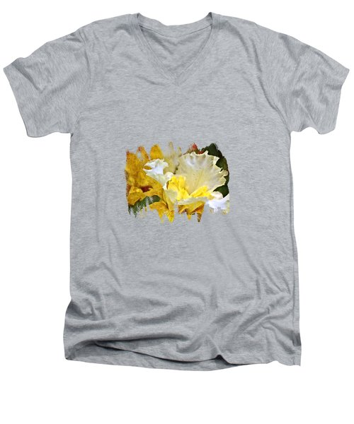 Morning Iris Men's V-Neck T-Shirt by Thom Zehrfeld