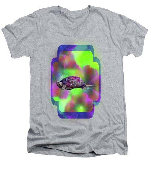Ms Curlie Men's V-Neck T-Shirt by Linda Troski