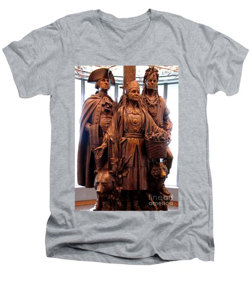 National Museum Of The American Indian 8 Men's V-Neck T-Shirt by Randall Weidner