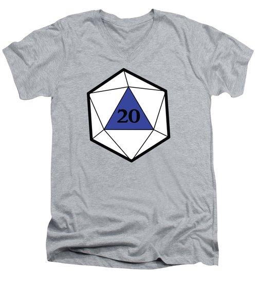 Natural 20 Men's V-Neck T-Shirt by Carlo Manara