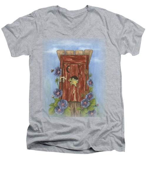 Nature Calls Men's V-Neck T-Shirt by Julie Senf