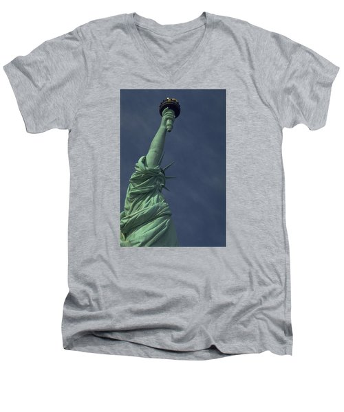 Men's V-Neck T-Shirt featuring the photograph New York by Travel Pics