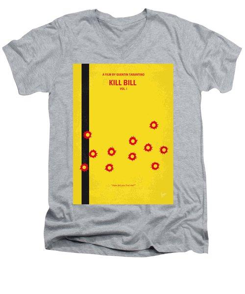 No048 My Kill Bill -part 1 Minimal Movie Poster Men's V-Neck T-Shirt by Chungkong Art