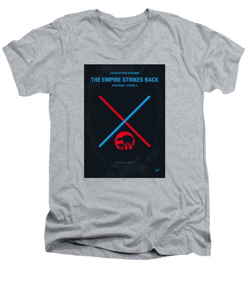 No155 My Star Wars Episode V The Empire Strikes Back Minimal Movie Poster Men's V-Neck T-Shirt by Chungkong Art