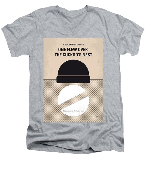 No454 My One Flew Over The Cuckoos Nest Minimal Movie Poster Men's V-Neck T-Shirt by Chungkong Art