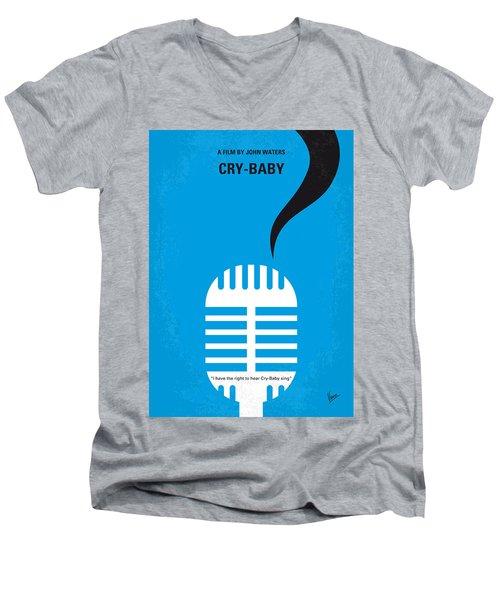 No505 My Cry-baby Minimal Movie Poster Men's V-Neck T-Shirt by Chungkong Art