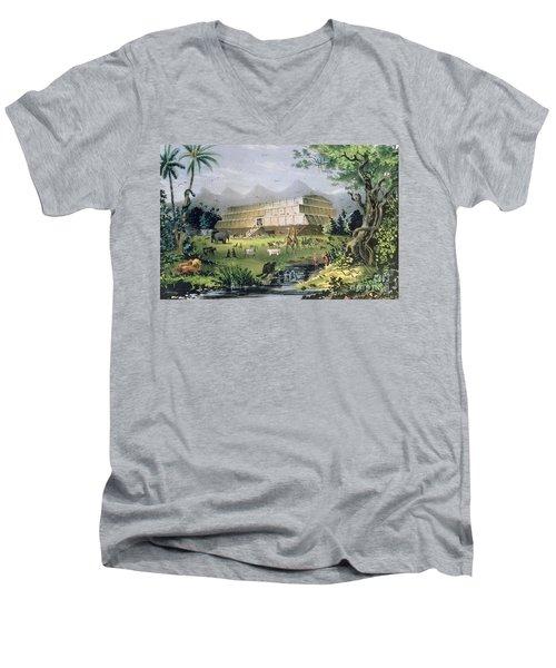 Noahs Ark Men's V-Neck T-Shirt by Currier and Ives