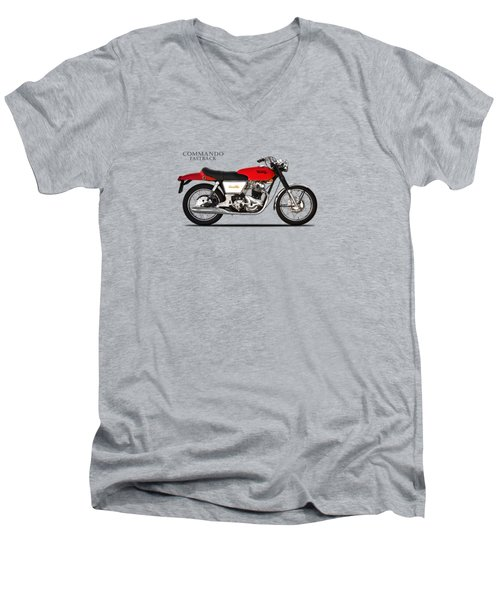 Norton Commando Fastback Men's V-Neck T-Shirt by Mark Rogan
