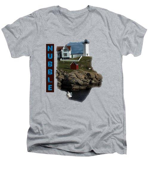 Nubble T-shirt Men's V-Neck T-Shirt by Mim White