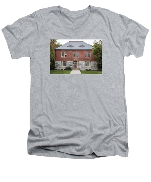 Old Botany Building Penn State  Men's V-Neck T-Shirt by John McGraw