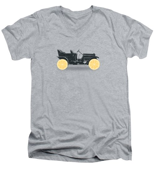 Oldtimer Historic Car With Lemon Wheels Men's V-Neck T-Shirt by Philipp Rietz