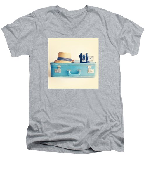 On The Road Men's V-Neck T-Shirt by Colleen VT