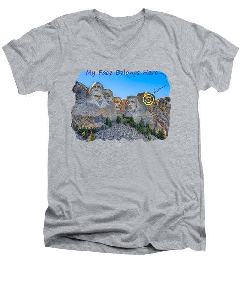 One More Men's V-Neck T-Shirt by John M Bailey