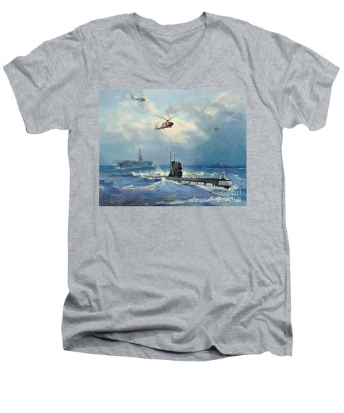 Operation Kama Men's V-Neck T-Shirt by Valentin Alexandrovich Pechatin