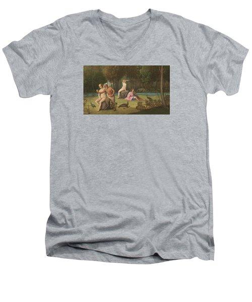 Orpheus Men's V-Neck T-Shirt by Venetian School