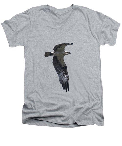 Osprey In Flight 2 Men's V-Neck T-Shirt by Priscilla Burgers