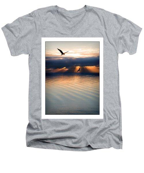 Ospreys Men's V-Neck T-Shirt by Mal Bray
