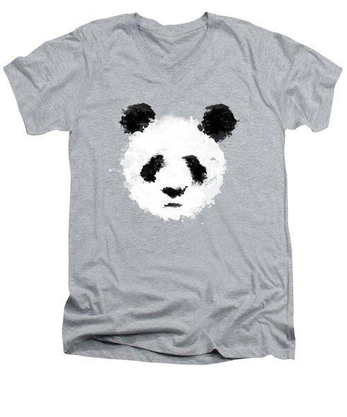 Panda Men's V-Neck T-Shirt by Mark Rogan