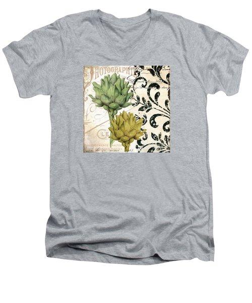 Paris Artichokes Men's V-Neck T-Shirt by Mindy Sommers