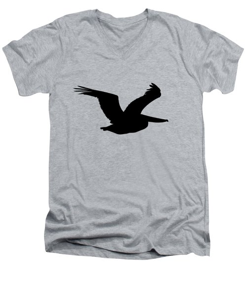 Pelican Profile .png Men's V-Neck T-Shirt by Al Powell Photography USA