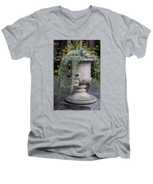 Penn State Flower Pot  Men's V-Neck T-Shirt by John McGraw